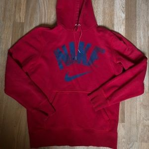Nike Red Pullover Sweater / Hoodie Size Medium